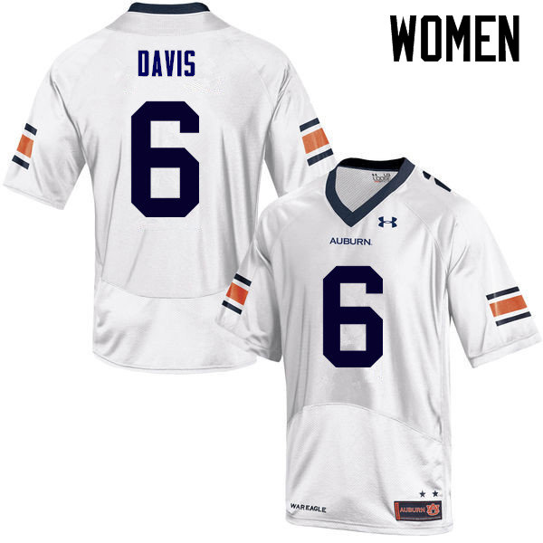 Women Auburn Tigers #6 Carlton Davis College Football Jerseys Sale-White